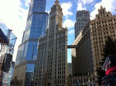 Trump Towers and the Wrigley Building #TrumpTower #WrigleyBuilding #MagMile #MichiganAvenue #Chicago