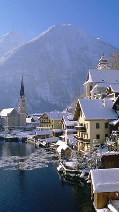 Hallstatt In Austria  Exlpore Austria's natural beauty.. rent a car with www.car-booker.com #therentacarpeople #carrentalcomparers