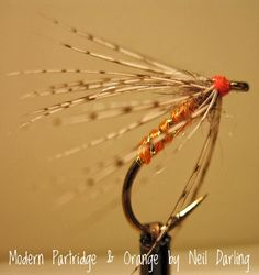 6 x Orange Partridge Fly Fishing Wet Flies For Trout and Salmon