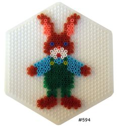Easter bunny boy hama perler pattern - HAMA