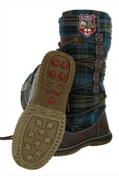 Brown/Green Pajar Andree Womens Snow Boots Leather Plaid Sherpa Waterproof.  More Pajar Winter