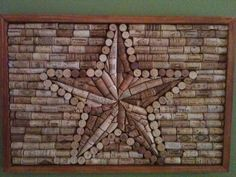 Items similar to Star Wine Cork Wall Hanging on Etsy