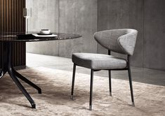The dimensions of the Mills chair are delicate; the profile is dynamic; the structural design is clear. Its Scandinavian genes are there; clearly stated...