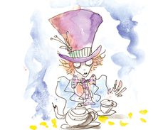 Tim Burtons Mad Hatter... kind of reminds me of Quentin Blake's style of illustration