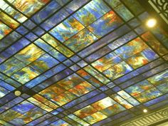 Ceiling at food hall in Harrods, London