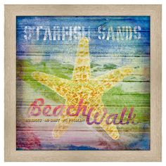 Beach Art - Starfish Sands | Wayfair