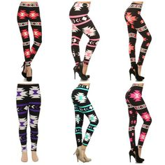 Aztec are the most popular legging pattern we have!!  Lots of colours to choose from! Some of these come in Mommy & Me sets as well!  $25