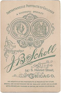J.B. Scholl Cabinet Card by our huge ancestor, via Flickr