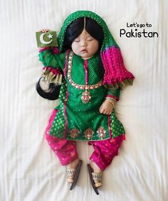 Meet Joey, who's perhaps the youngest #Internet #celebrity, clad in a tradition #Pakistani dress #ShalwarKameez complete with a chunri #dopatta. Not surprisingly Laura Izumikawa, Joey's #mother, received the #dress as a #present from a #friend, Maria (@udl_pk), a #generous fellow Pakistani who wanted to pay #tribute to the very many talented #women her #organisation supports. This #cute #little, colourful dress is designed by Sana Arif (@seap.bySanaArif). Here's us, paying tribute to one of…