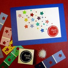 Create thank-you cards out of paint samples