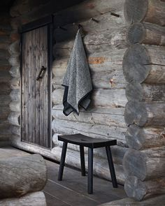 """LIVE LIKE A FINN on Instagram: """"Many of us are missing our summer places and cottages at the moment. Maybe now more than ever. 🌿 The traditional form of Nikari's handmade…"""" Marimekko, Outdoor Furniture, Outdoor Decor, Black And Grey, Stool, In This Moment, Traditional, Places, Handmade"""