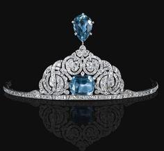 Cartier aigrette tiara, circa 1912.