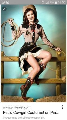 and for the latest in trending accessories, visit Designs By Maral, on etsy… Vintage Western Wear, Vintage Cowgirl, Cowgirl Chic, Cowboy And Cowgirl, Cowboy Art, Western Costumes, Cowgirl Costume, Western Outfits, Deer Costume