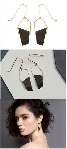 Gold Earrings 'Java Rock'