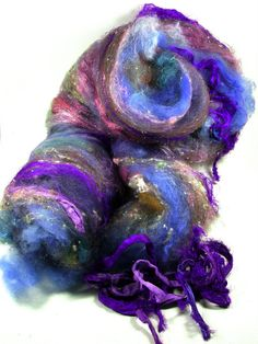 Kismet Wild Card Bling Batt for Spinning and Felting by yarnwench, $30.00