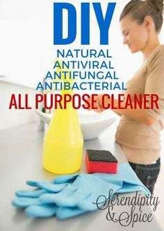 🍀Cub & Clover 🍀 DIY All Natural All Purpose Cleaner Recipe - Antiviral, Antibacterial, Antifungal Serendipity and Spice Cleaning Spray, Homemade Cleaning Products, Natural Cleaning Products, Cleaning Hacks, Cleaning Solutions, Cleaning Supplies, Bathroom Cleaning, Green Cleaning, Cleaning Routines