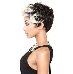 Keyshia Wig by Mane Concept. Keyshia wig features a lightweight, short-cropped cut with a flipped curly fringe that adds style! Long Hair Wigs, Human Hair Wigs, Synthetic Lace Front Wigs, Synthetic Wigs, Wig Styles, Long Hair Styles, Curly Fringe, Short Cut Wigs, Inspirational Celebrities