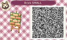 """mayorpippin: """"Had a hard time finding a cute, realistic path that didn't take up all my design squares, so I buckled down and designed one myself! The small path is for single column paths, and the..."""