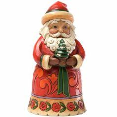 Jim Shore Pint-Sized Santa with Tree Christmas Figurine