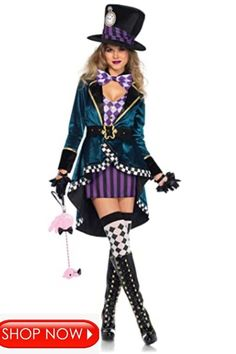 this is a very scary halloween costume for teenage girls and women,it can be worn as a group ,duo or single individual depending on your preference ,it is very cool for 2020 halloween party Costumes For Teenage Girl, Sexy Adult Costumes, Costume Sexy, Girl Costumes, Costumes For Women, Costumes Kids, Costume Dress, Mad Hatter Halloween Costume, Mad Hatter Costumes
