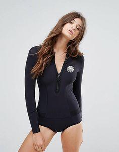 Rip Curl Surf Neoprene Body Suit on ShopperBoard Rip Curl, Bikinis, Swimsuits, Women's Swimwear, Asos, Neoprene, Swimming Costume, Beachwear For Women, Black Swimsuit