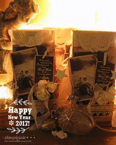 Happy New year! Wishing you all the best for I hope this year will be filled with joy and creativity! New Year 2017, Happy New Year, Vintage Christmas, Stamp, Creative, Projects, Cards, Blog, Painting