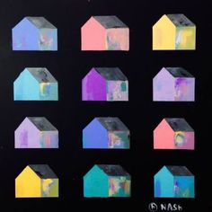 "Saatchi Art Artist brian nash; Painting, ""Houses."""