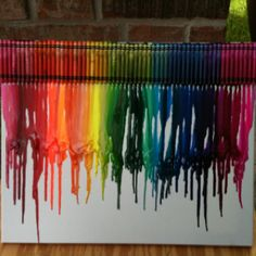 My own melty crayon art! Gonna hang it in my office at school :)