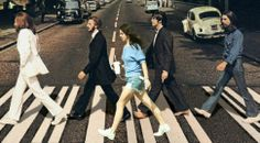 Lana Del Rey just walking with the Beatles on Abbey Road #LDR  lol