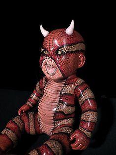 OOAK Krypt Kiddies Snake Goth Horror Demon Scary Reborn Doll Evil RARE | eBay