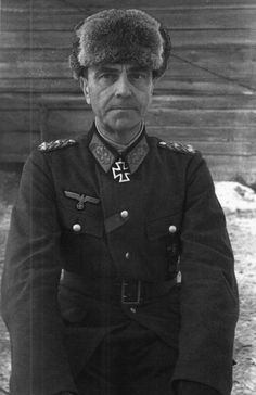"German Field-Marshall Friedrich Paulus ((23 September 1890 – 1 February 1957) at about the time of his surrender to the Russians at Stalingrad on 31 January 1943. Not a ""great photo"" but an interesting one."
