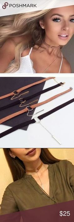 Vegan leather chockers! NWT vegan chockers! Coming soon!  HWL Boutique Jewelry Necklaces