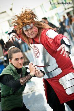 Shikimaru Nara and Chōji Akimichi, Naruto cosplay.