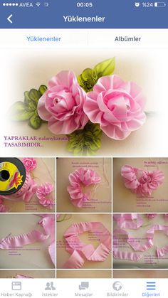 DIY Fabric Flower patterns for you to make at home. Patterns are easy to make with photo instructions. Perfect for DIY Fabric Flower patterns for you to make at home. Patterns are easy to make with photo instructions. Satin Ribbon Flowers, Cloth Flowers, Ribbon Art, Ribbon Crafts, Flower Crafts, Fabric Flowers, Satin Ribbons, Flower Diy, Diy Ribbon