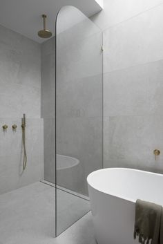 Stone Bathroom, Concrete Bathroom, Small Bathroom, Light Bathroom, Bathroom Showers, Concrete Wall, Bathroom Faucets, Bathroom Color Schemes, Bathroom Trends