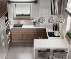 Kitchen Layout Design with Marble backsplash, soap stone countertops and white cabinets Kitchen Room Design, Kitchen Cabinet Design, Modern Kitchen Design, Kitchen Layout, Home Decor Kitchen, Interior Design Kitchen, Home Kitchens, Kitchen Ideas, Kitchen Inspiration