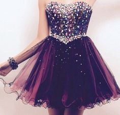Colorful Beading and Tulle Homecoming DressesA-Line Graduation DressesHomecoming DressShort/Mini Homecoming Dress