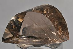 Smokey Rutilated Quartz Faceted Crystal-Brazil  $540.00 Quartz Rock, Rutilated Quartz, Faceted Crystal, Opals, Stones And Crystals, Brazil, Minerals, Rocks, Fine Jewelry