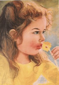 Girl with a camomile