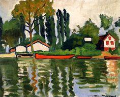 Poplars at Villennes / Albert Marquet - 1911