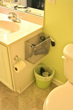 Bathroom appliance storage –