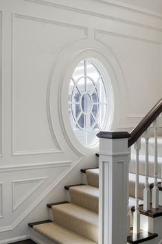 from A Little Bit of This, That, and Everything | Staircase Window Trim and Millwork