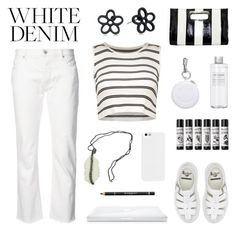 """""""Bright White: Summer Denim"""" by deepwinter ❤ liked on Polyvore featuring Nili Lotan, Dr. Martens, Alexander Wang, Muji, Marc Jacobs, Givenchy and whitejeans"""