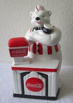 ❤Coca-Cola 1998 Soda Jerk Cookie Jar