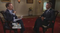Meet the Press with President Barack Obama and Chuck Todd; Interview on immigration; Obama was credible, with Todd's interruptions and snarky prompts throughout.