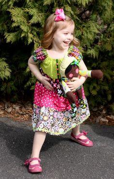 Chocolate Lollipop 3-tire peasant dress