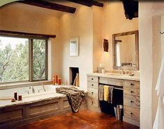 santa fe style kitchen cabinets | ... plumbing with a convenient towel bar kitchens beyond kitchens details
