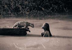 """ Dohncha' know der's gators in der? Even water moccasins; dem snakes be deadly."""