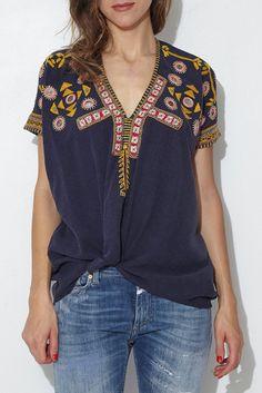 Indigo Fe Blouse From ShopHeist.com!