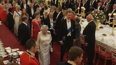 British royal family treat Queen Letizia and King Felipe to a lavish state banquet to mark their first official UK visit.